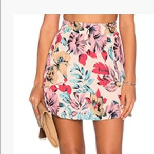 Pink tropical skirt- small